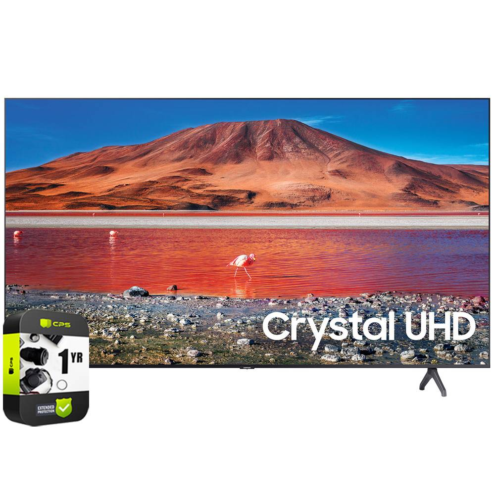 Samsung UN58TU7000FXZA 58 4K UHD Smart LED TV 2020 Model with Extended Warranty