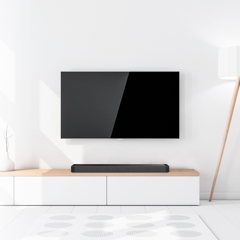 Samsung UN65TU8000 65 4K Ultra HD Smart LED TV (2020 Model)w/ Deco Gear Soundbar Bundle