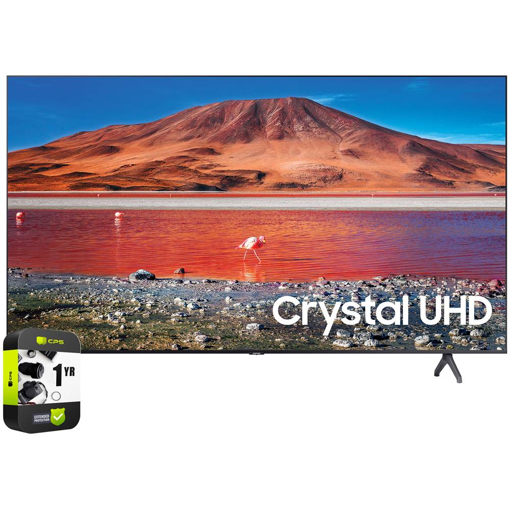 Samsung UN43TU7000FXZA 43 4K UHD Smart LED TV 2020 Model with Extended Warranty