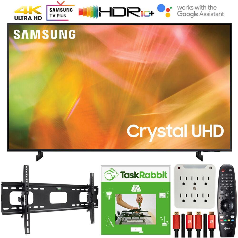 Samsung 75 Inch 4K Crystal UHD Smart LED TV 2021 +TaskRabbit Installation Bundle