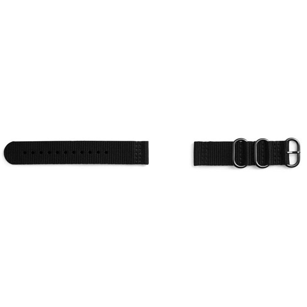 Samsung Studio Premium Nato Strap for Gear Sport (20mm) - Black - GPR600BREECAA