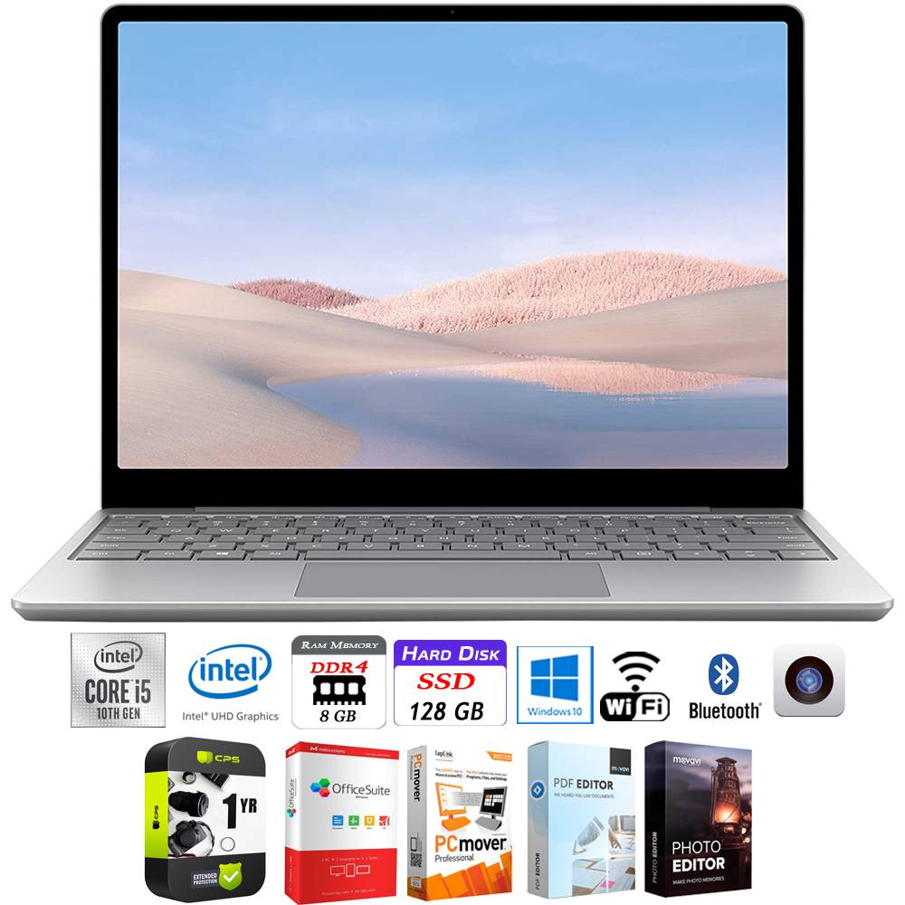 Microsoft Surface Laptop Go 12.4 Intel i5-1035G1 8GB/128GB + Protection Plan Pack