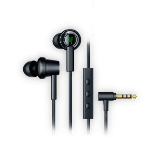 Razer Hammerhead Duo Wired Earbuds: Custom-Tuned Dual-Driver Technology - in-Line Mic & Volume Control - Aluminum Frame - 3.5mm Headphone Jack