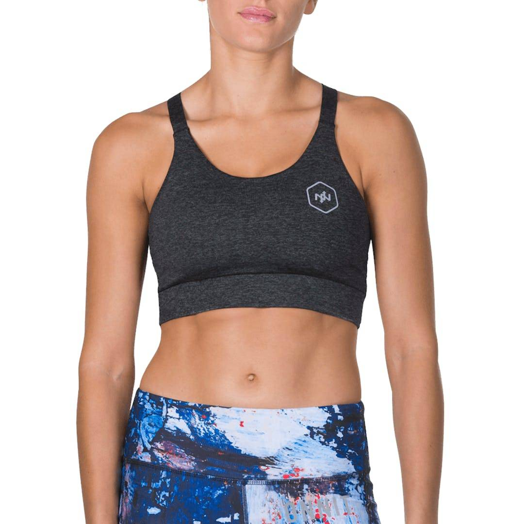 Onnit Steady Sports Bra Charcoal Heather - LARGE