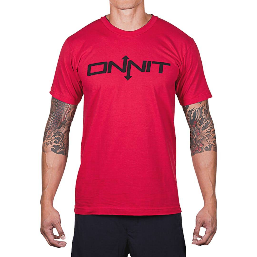 Onnit Type T-Shirt Red/Black - XLARGE