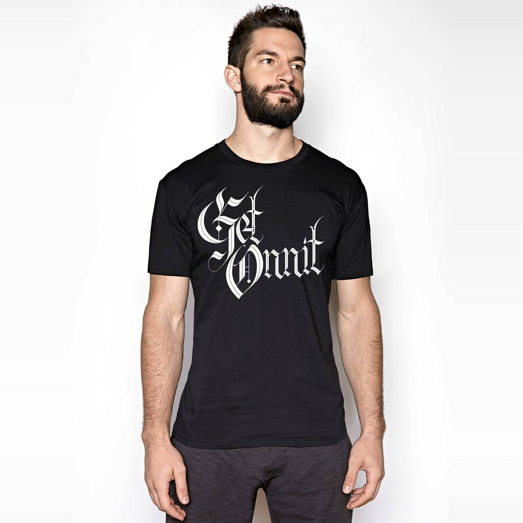 Onnit Get Medieval T-Shirt Black/White - MEDIUM