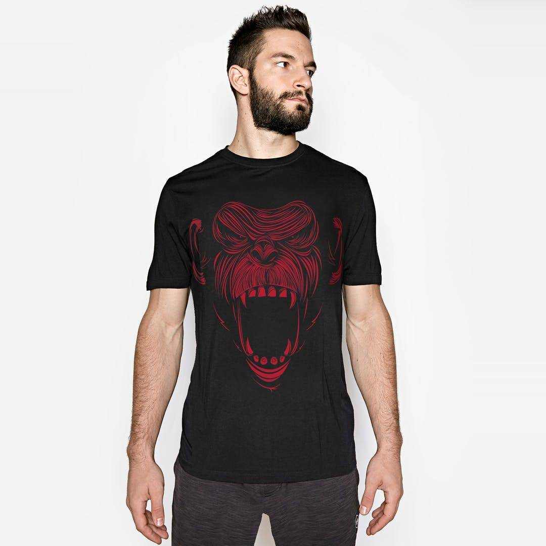Onnit Primal Bamboo T-Shirt Black/Red - SMALL
