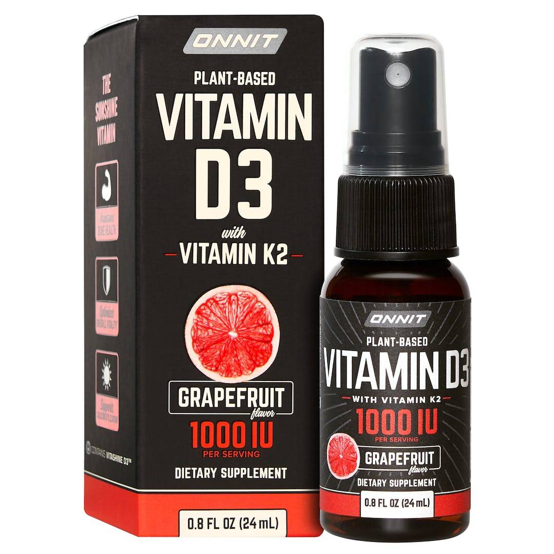 Onnit Vitamin D3 spray with Vitamin K2 in MCT Oil - Grapefruit (24mL)