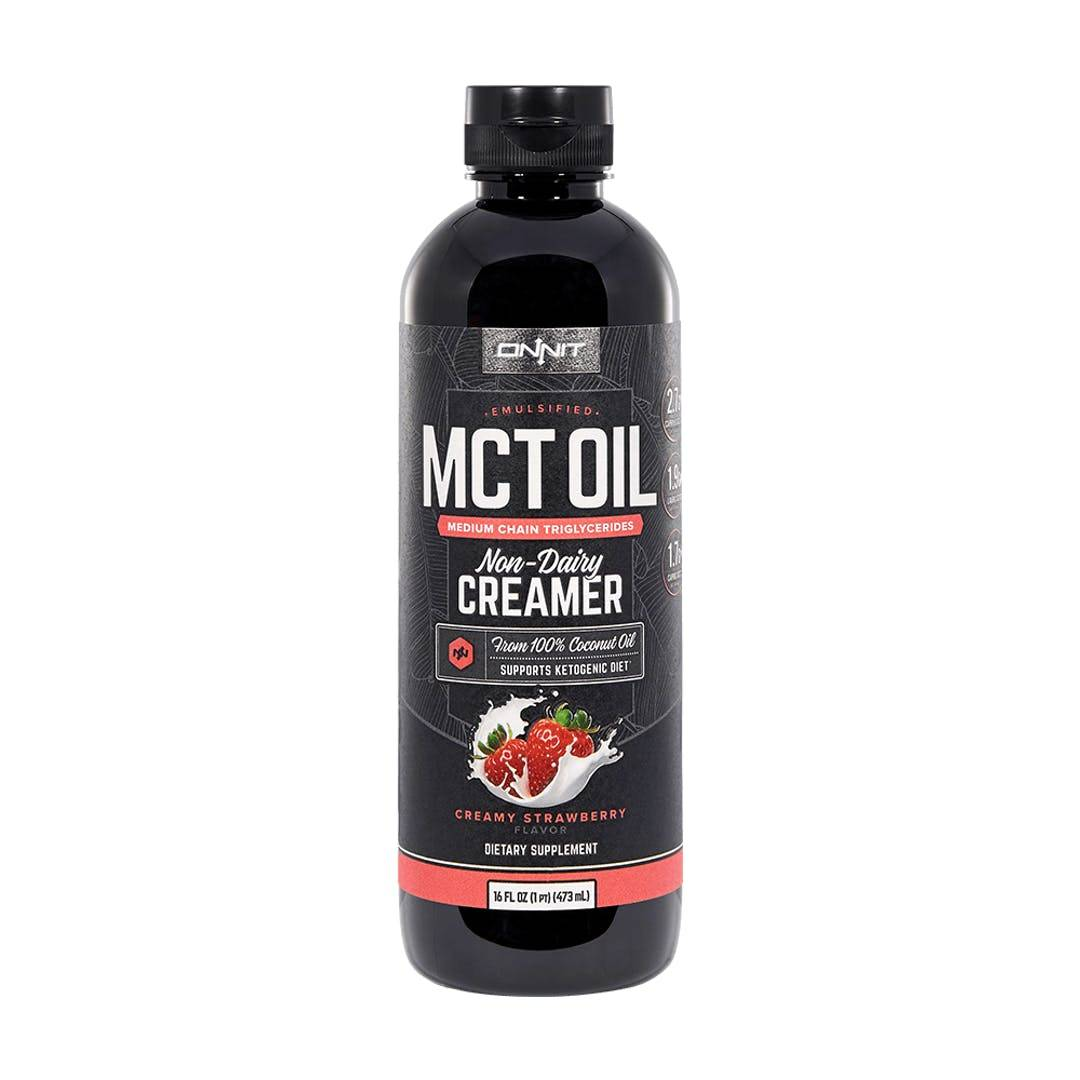 Onnit Emulsified MCT Oil - Creamy Strawberry (16oz)