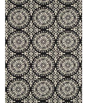 Robert Allen @ Home Suzani Strie Night Sky Fabric  - black