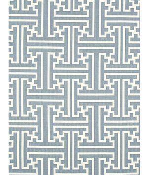 Robert Allen @ Home Lattice Links Backed Rain Fabric  - blue