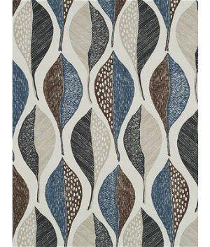 Robert Allen @ Home Woodblock Leaf Twilight Fabric  - black