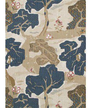Robert Allen @ Home Dawns Path Indigo Fabric  - blue