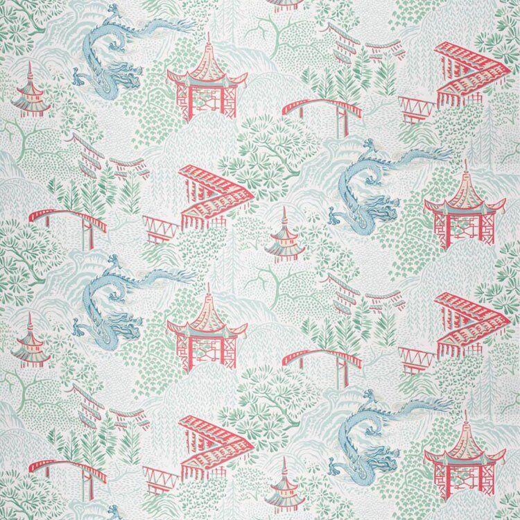 Trend 04225 Aqua Garden Fabric  - blue