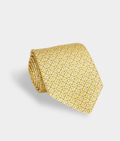 Vineyard Vines Men's Golf Clubs Neck Tie (Yellow)