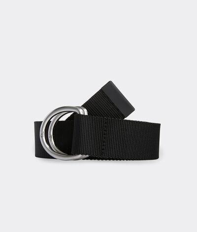 Vineyard Vines Men's Two-Tone Performance D-Ring Belt (Black) (Size: XL)