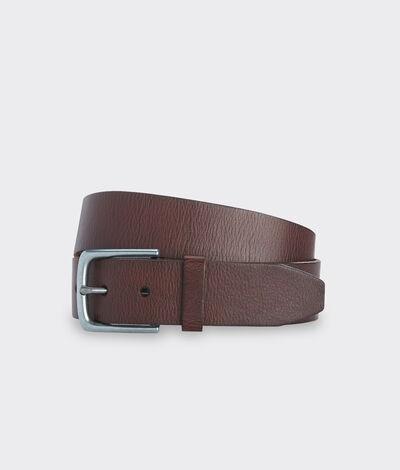 Vineyard Vines Men's Solid Distressed Leather Belt (Brown) (Size: 38)
