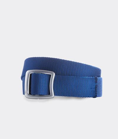 Vineyard Vines Men's Solid On-The-Go Performance Belt (Blue) (Size: XS)