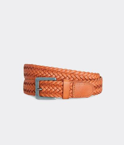 Vineyard Vines Men's Braided Leather Belt (Big Sable) (Size: 34)