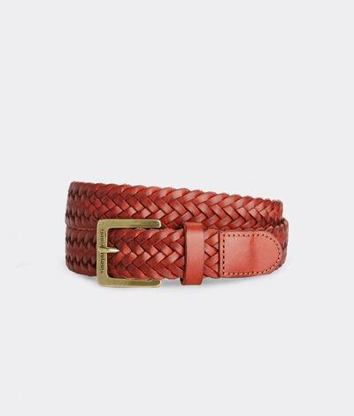 Vineyard Vines Men's Braided Leather Belt (Tobacco) (Size: 38)