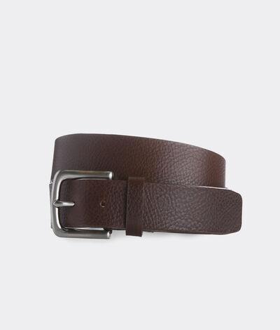 Vineyard Vines Men's Pebbled Leather Belt (Brown) (Size: 44)