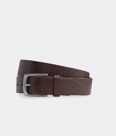 Vineyard Vines Men's Leather Dress Belt (Tobacco) (Size: 42)