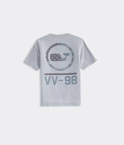 Vineyard Vines Boys' Tonal VV98 Short-Sleeve Performance T-Shirt (Grey Heather) (Size: Medium)