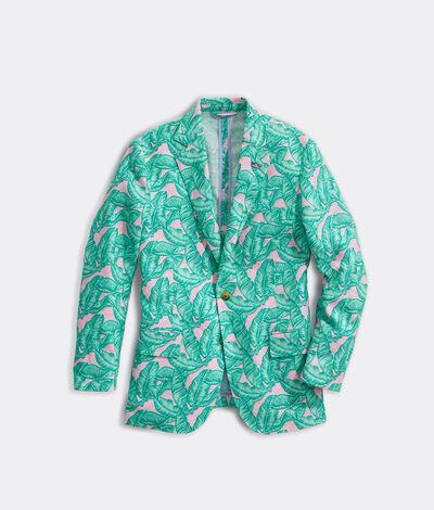 Vineyard Vines Men's Banana Leaf Printed Blazer (Palm Purple) (Size: 40)