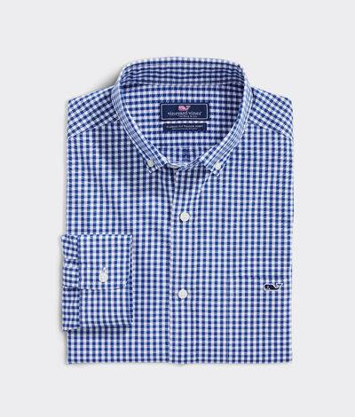 Vineyard Vines Men's Classic Fit Boldwater Tucker Button-Down Shirt (Blue Bay) (Size: Small)