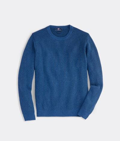 Vineyard Vines Men's Offshore On-The-Go Crewneck (Dockside Blue) (Size: Small)
