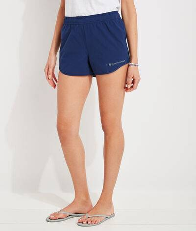 Vineyard Vines Women's Sandbar Shorts (Blue) (Size: Medium)
