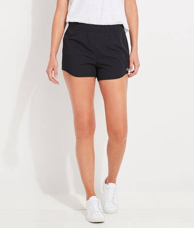 Vineyard Vines Women's Sandbar Shorts (Black) (Size: Large)
