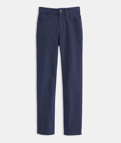 Vineyard Vines Boys' On-The-Go 5-Pocket Pants (Blue) (Size: 16)