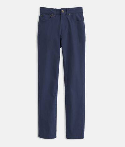 Vineyard Vines Boys' On-The-Go 5-Pocket Pants (Blue) (Size: 18)