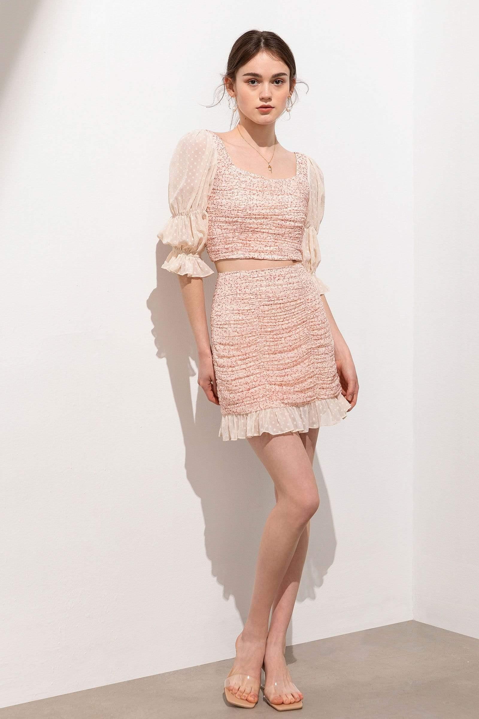 Poppy Dainty Ruffle Hem Mini Skirt