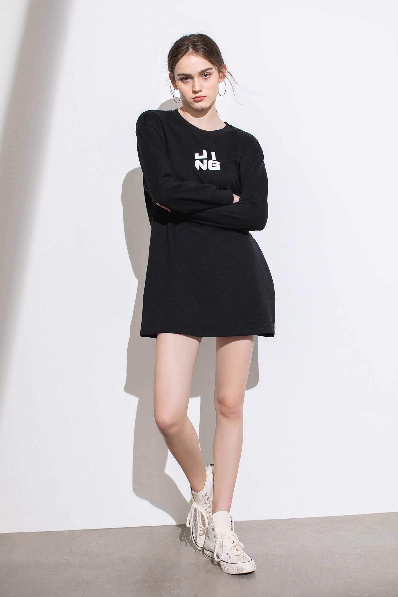Wordplay Black Sweater Dress