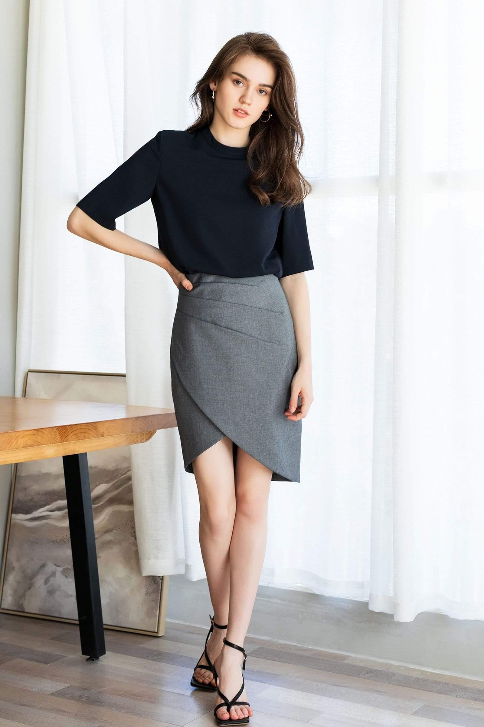 Margaret Grey Tulip Skirt