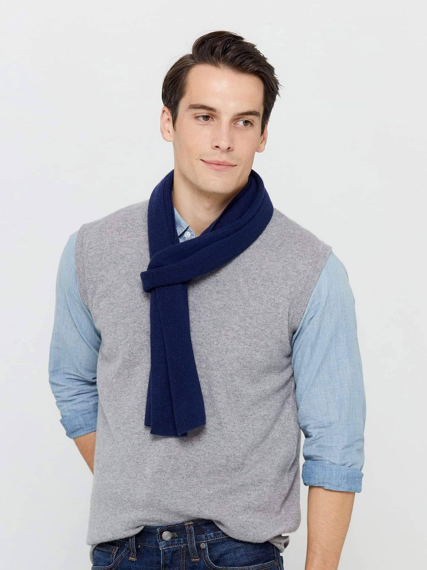 StateCashmere Cashmere Winter Wrap Scarf (Heather Grey / OS)