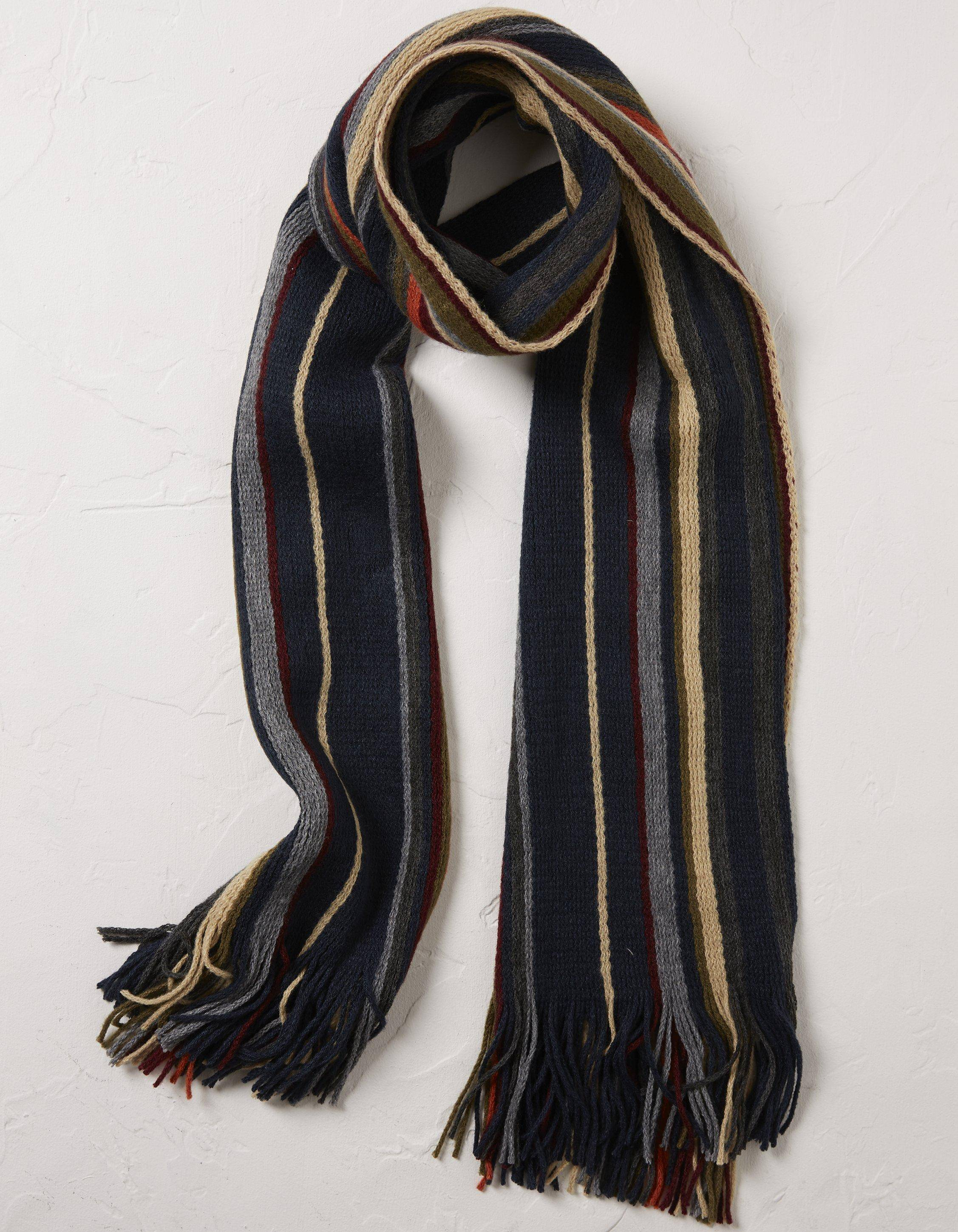 Fat Face Vertical Stripe Scarf  - Size: One Size
