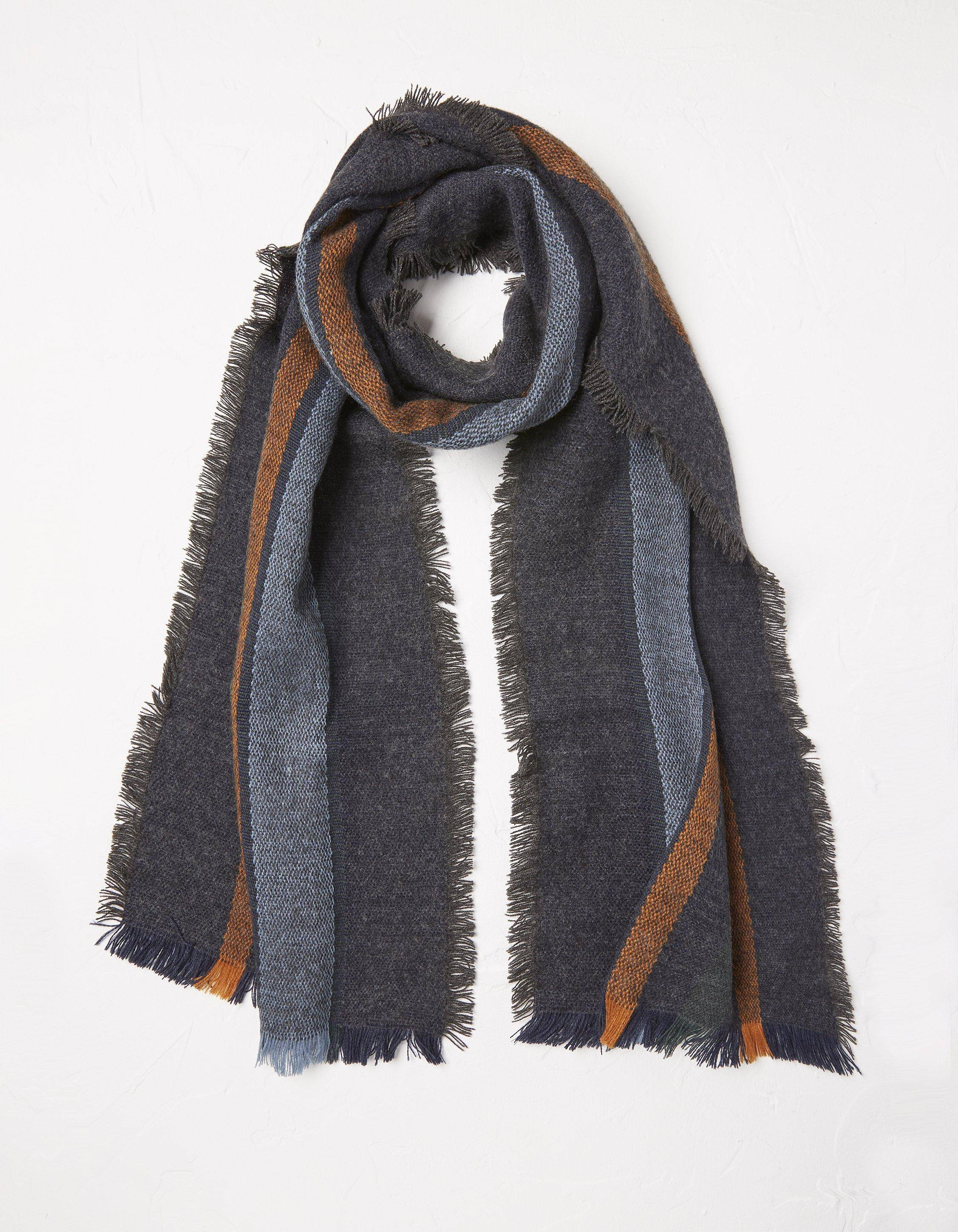 Fat Face Woven Stripe Scarf  - Size: One Size