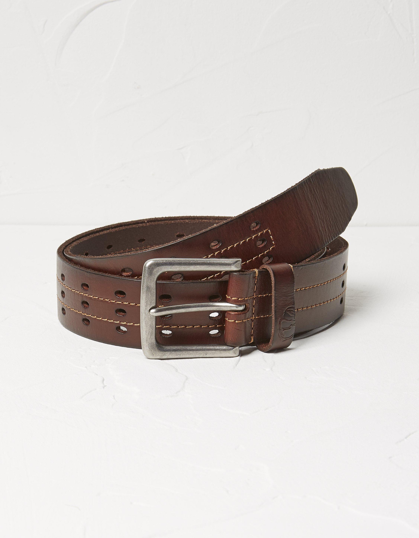 Fat Face 3 Row Italian Leather Belt  - Size: Large