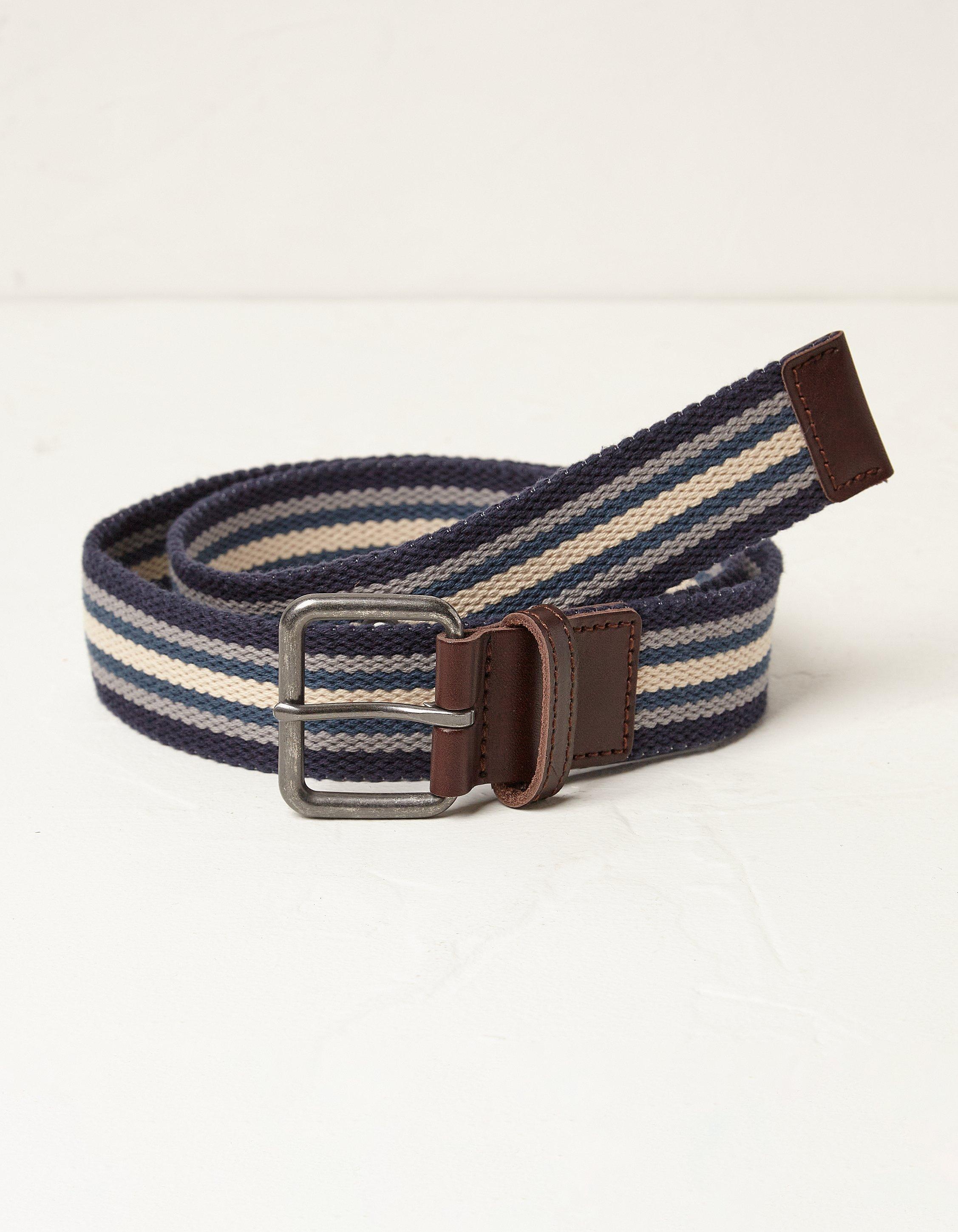 Fat Face Navy Webbing Belt  - Size: Large