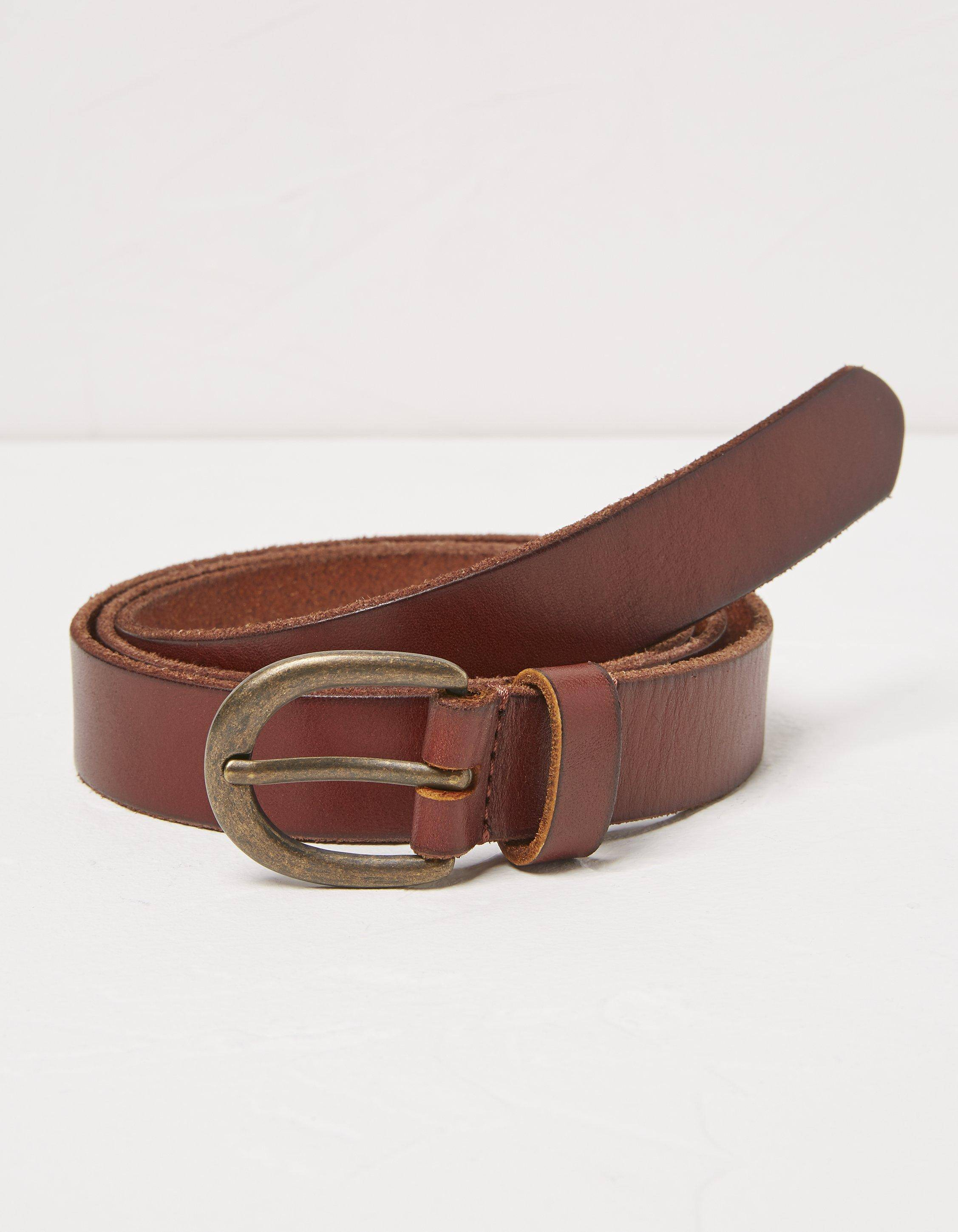 Fat Face Heart Stud Leather Belt  - Size: Small