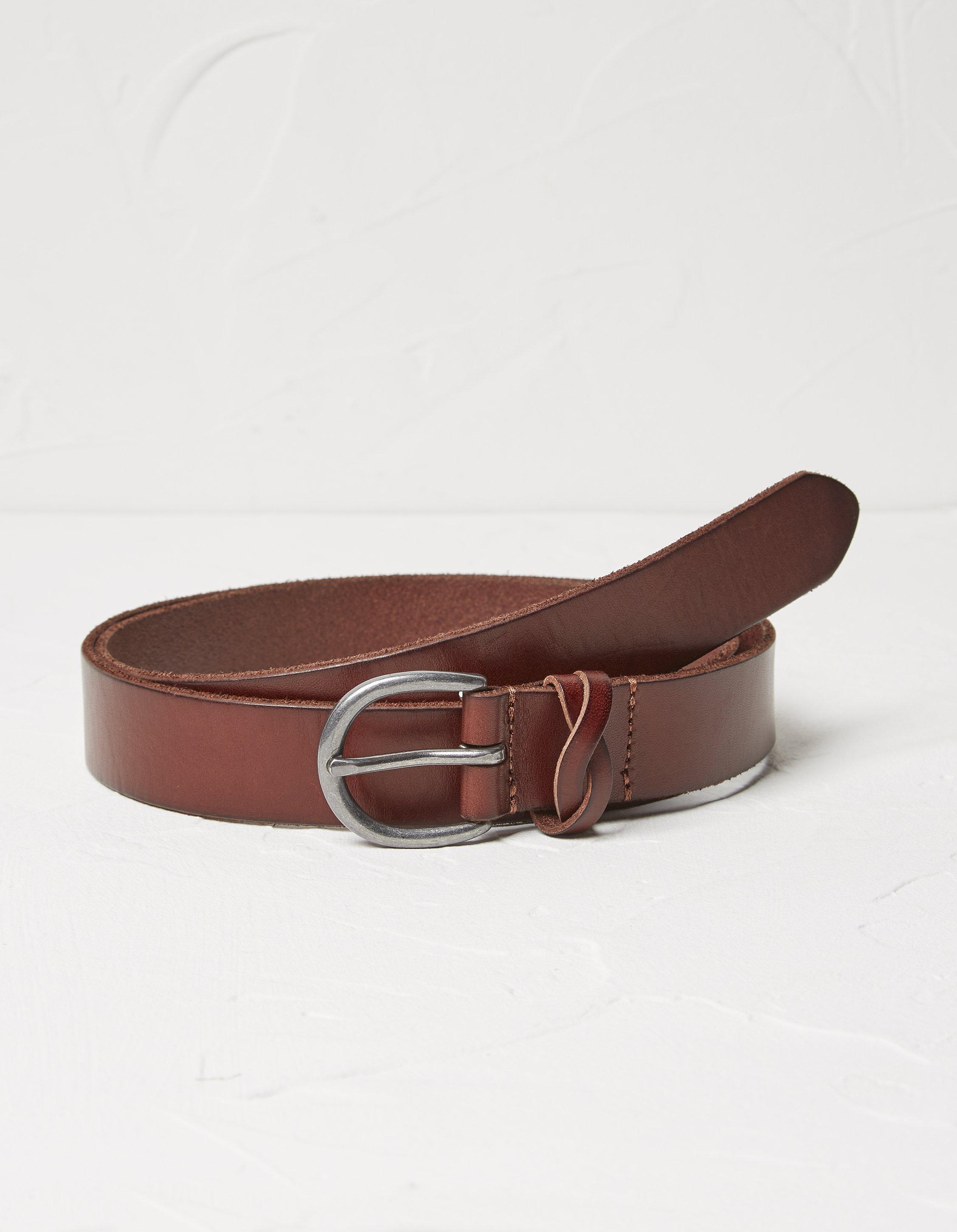 Fat Face Plait Keeper Leather Belt  - Size: Medium