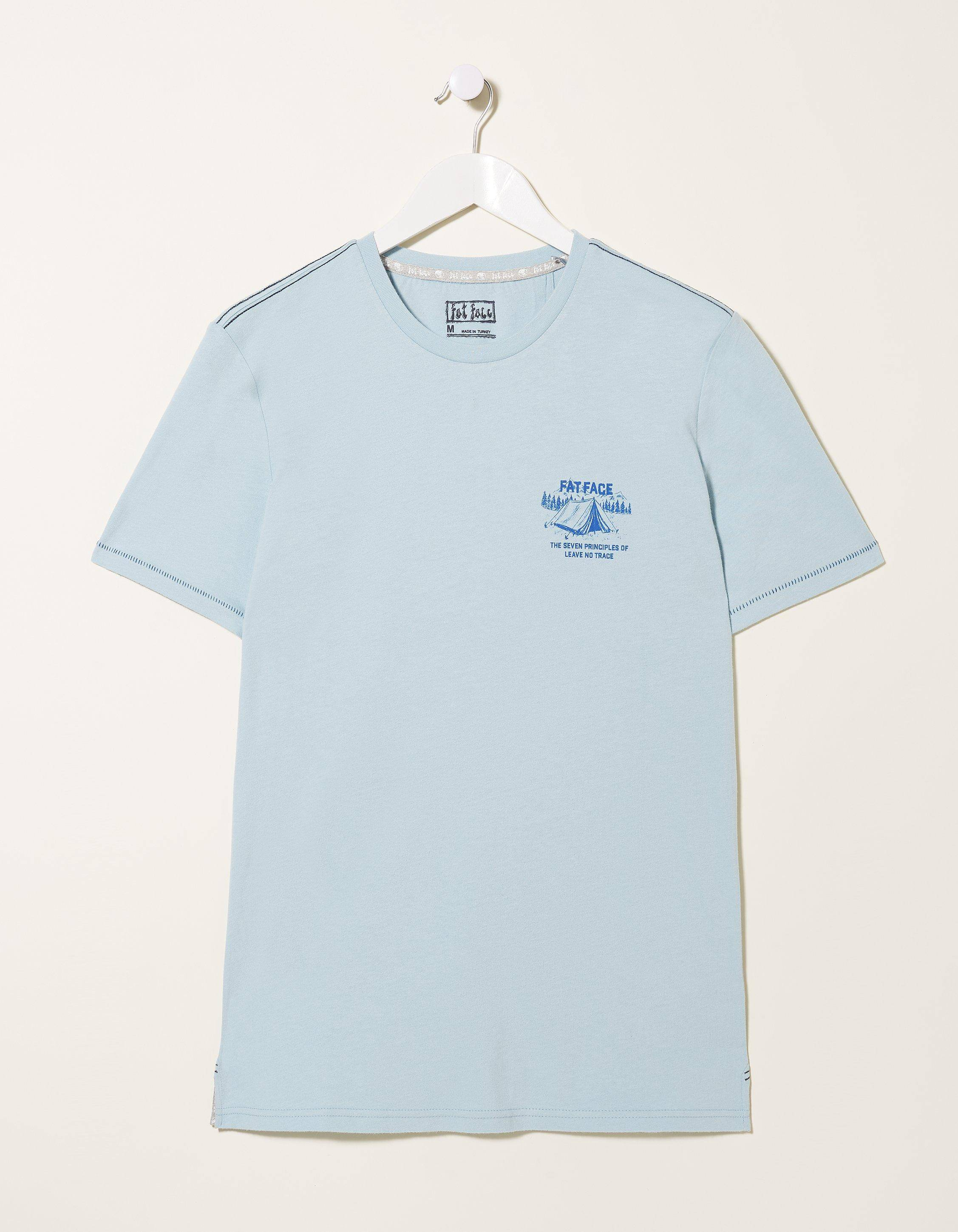 Fat Face Technical Camping T-Shirt  - Size: Large