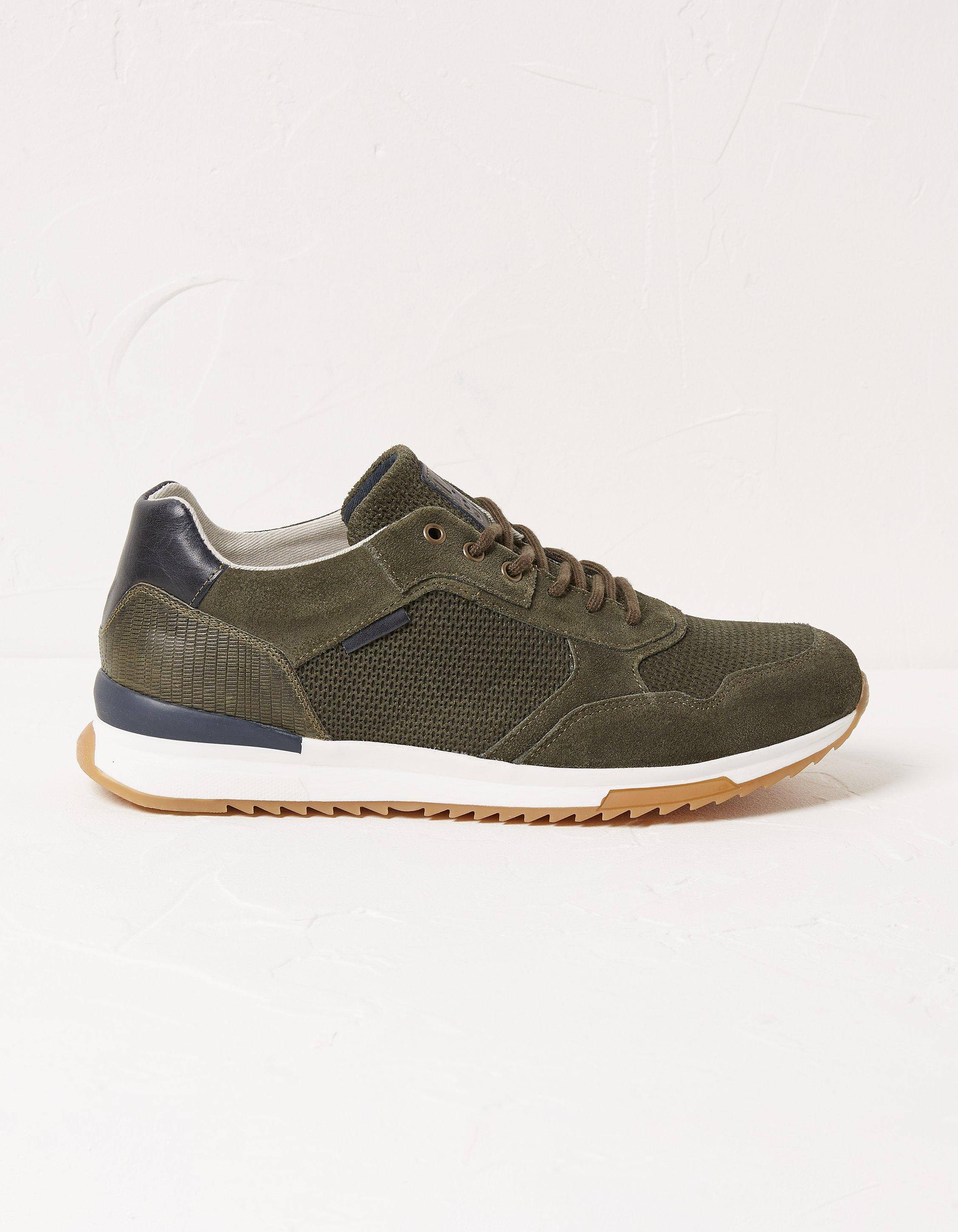 Fat Face Mens Leather Trainers  - Size: 10