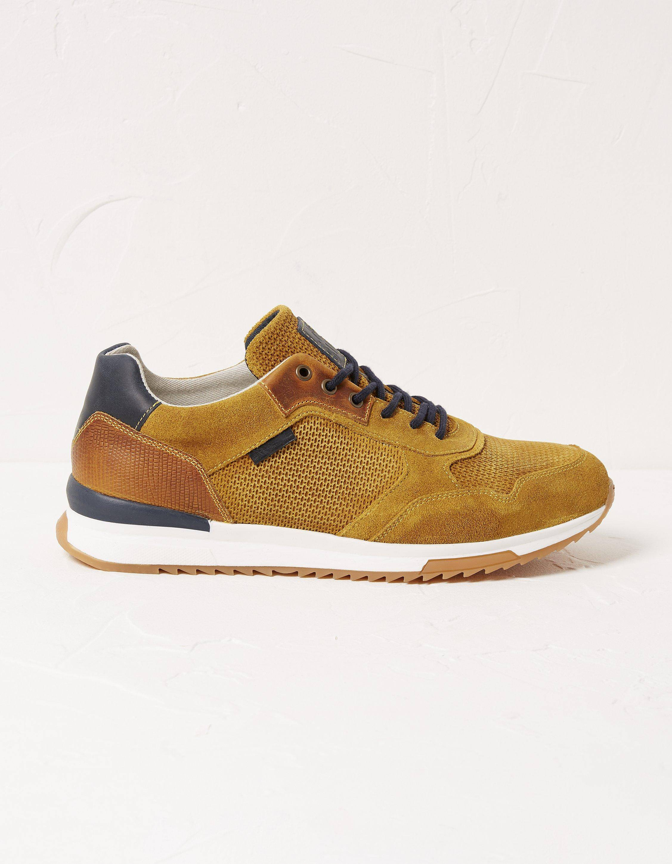Fat Face Mens Leather Trainers  - Size: 9