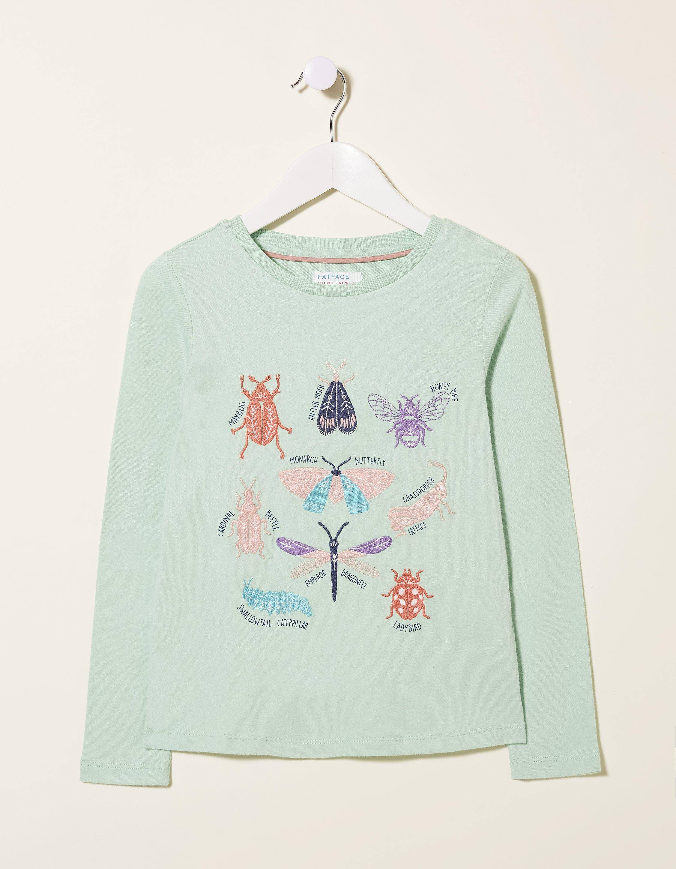 Fat Face Bugs Graphic T-Shirt  - Size: 8-9