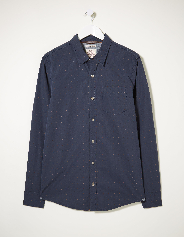 Fat Face Kinnerton Dobby Shirt  - Size: Extra Large