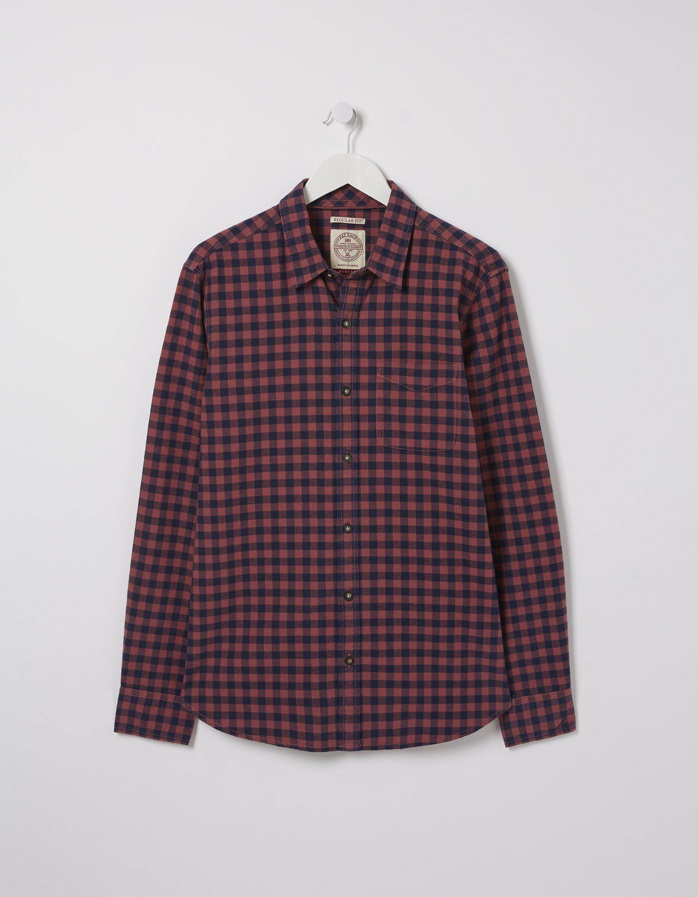 Fat Face Thorney Gingham Shirt  - Size: Small
